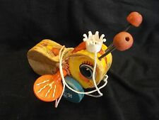 Vintage #444 Queen Buzzy Bee wood pull toy Fisher Price