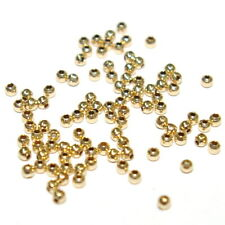 2mm 14kt Gold Filled Round Seamless Smooth Spacer or Crimp Beads WHOLESALE LOTS