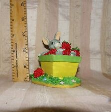 Charming Tails The Berry Best~Baby Bunny Rabbit In Raspberry Box~Fitz & Floyd
