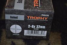 Bushnell Trophy 2-6x32mm Silver NIB Hangun Scope Handgun Reticle 752633S