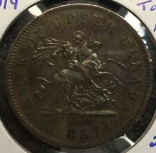 1857 Upper Canada One Penny Colonial Token - PC-6D