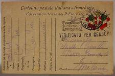 POSTA MILITARE 43^ DIVISIONE 8.4.1917 #XP291A