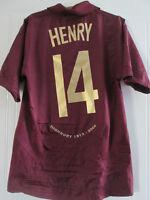 Arsenal 2005-2006 Henry 14 Redcurrant Football Shirt Small Trikot /37578