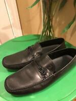 MENS TODS BLACK LEATHER DRIVING LOAFER SHOE SIZE 10(SH800