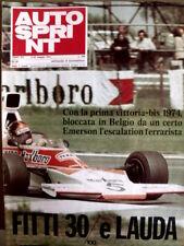 Autosprint 20 1974 Emerson Fittipaldi Niki Lauda  [Sc.40A]