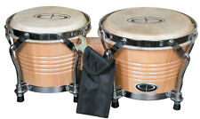 """Percussion B2 Pro-Series Tunable Bongos 6"""", 7"""" hickory finish wodden drums New"""