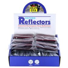 Oxford Motorcycle Self Adhesive Rectangle Reflectors Pair MOT Compliant OX131 T