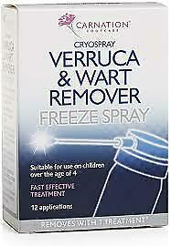 Carnation Verruca & Wart Remover Freeze Spray - 50ml -  FAST AND FREE SHIPPING