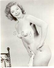 Original Vintage 1940s-60s Desnudo Rp- Reducida Marrón Pelo Beauty- Tanto para