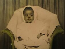 Vintage African American Artistic Pink Angel Baby Girl Studio Portrait Old Photo