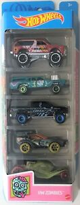 Hot Wheels 2021 HW Zombies 5 Pack | Chevy Blazer 4x4 - '15 Ford F-150 - Tomb Up