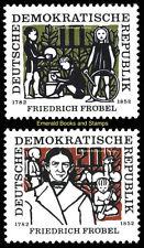 EBS East Germany DDR 1957 Friedrich Fröbel Michel 564-565 MNH**