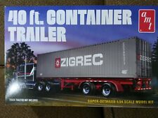 AMT 1/24 Scale 40' Semi Truck Container Trailer Plastic Model Kit AMT 1196