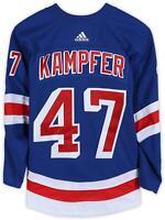 Steven Kampfer New York Rangers GU #47 Blue Jersey - 2017-18 Preseason - Size 56