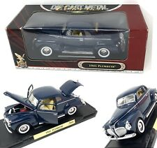 NIB 1941 Plymouth Coupe Dark Car Blue Yat Ming Road Signature 1:18 Scale 92398