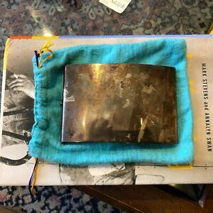 RARE LOS CASTILLOS MEXICAN STERLING SILVER Cigarette case w original bag
