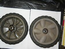 Used Lawn-Boy Push Mower Set Of 2 Rear Wheels 117-4103 / 107-3898