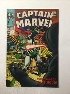 Captain Marvel 7 Very Fine vf 8.0 Marvel