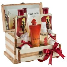 Bath, Body, and Spa Gift Set for Women, in French Vanilla Fragrance