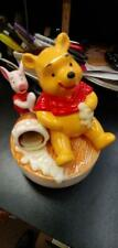 Vintage Schmid Winnie The Pooh Porcelain Ceramic Music Box Getting To Know You
