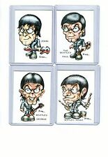 Beatles (4 Cards) Art Prints John Lennon Paul Mccartney George Harrison Ringo