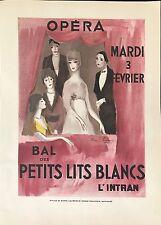 """MARIE LAURENCIN """"BAL DES PETITS LITS BLANCS""""  OPÉRA 1931"""