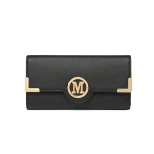 Ladies Faux Leather Wallet Long Purse Card Women Phone Holder Clutch Handbag
