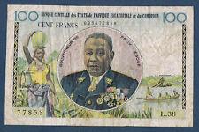 BILLET du BANQUE du CAMEROUN - 100 FRANCS Pick n° 32 de 1957 en TTB L.38 77858