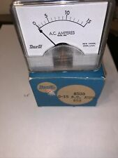 New Listingshurite Panel Meter Ac Amperes 0 15 Amps Model 8508 Amps Brand New In Box