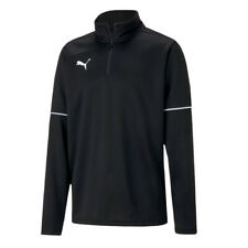 Puma TeamGOAL Mens Football Fitness Training 1/4 Zip Track Top Shirt Black