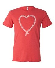 Cyclink Bicycle Heart Chain Shirt Bella+Canvas Bicycle Chain Red Tri-Blend Small