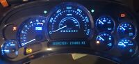 GM ICE BLUE LED 10 pc Kit Instrument Gauge Cluster Speedometer Silverado Chevy
