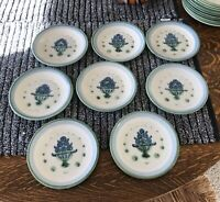 """M A Hadley BLUEBERRY BOUQUET 7 3/4"""" Lunch/Salad  Plates-8 Available @ 6.99 EACH"""