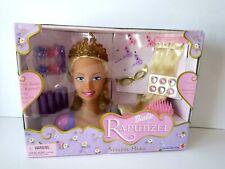 "2002 Mattel Princess BARBIE AS RAPUNZEL 9"" Styling Doll Head w/ Accessories NEW!"