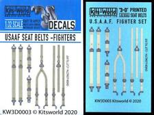 Kits World Decals 1/32 3D Seat Belt Set for American U.S.A.A.F. Wwii Aircraft