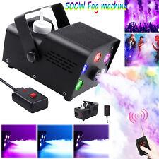 500W Nebelmaschine RGB LED Rauch Fernbedienung Show Mini DJ Bühneneffekt Disco