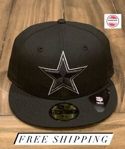Dallas Cowboys NFL New Era 59Fifty Basic Fitted Hat Black Charcoal Gray Sz 7 3/4