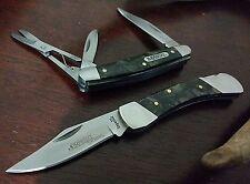 LOT-2 SCHRADE IMPERIAL BLACK PEARL HUNTING POCKET KNIVES KNIFE SET !!!