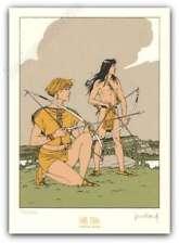 Ex-libris Sérigraphie André Juillard Plume aux vents 350ex signé 14x20 cm