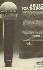 1979 Beyer Dynamic M500 ribbon microphone - Vintage Ad