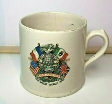 More details for ww1 great war peace cup allied flags 28th june 1919 royal doulton 7cm x 8 cm
