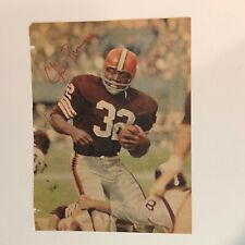 "Jim Brown Hand Signed ""Autographed""  Vintage Magazine Page (Cleveland Browns)"