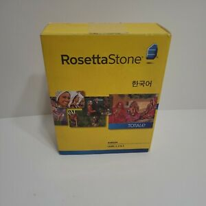 Rosetta Stone Korean level 1,2 & 3 version 4