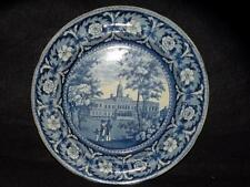 """ANTIQUE HISTORICAL STAFFORDSHIRE PLATE CITY HALL NEW YORK BY RIDGWAY 10"""""""