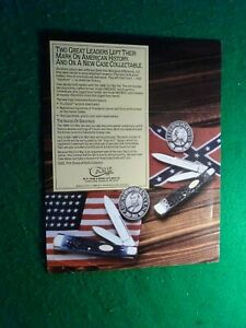 Case XX dealer intro sheet Abe Lincoln and Jefferson Davis knives
