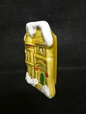 Vintage Ceramic VICTORIAN HOUSE Shaped Wooden LONG Fireplace MATCH STICK Holder