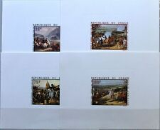 KONGO BRAZZAVILLE 1969 173-76 C78-81 DELUXE 200 Geb. Napoleon Paintings Gemälde