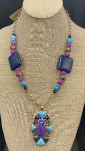 Barse Navajo Multi-Stone Necklace- Bronze- New With Tags