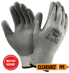 Ansell Kevlar Hyflex - CUT RESISTANT - work gloves (small) FREE DELIVERY