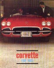 CORVETTE 1962 Sales Brochure 62 Vette